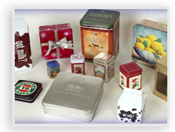 decorative tin containers, customs tins, & decorative custom paper boxes from Tinscape